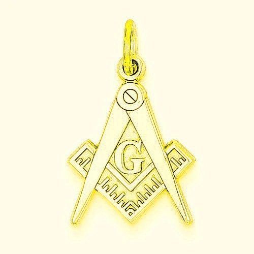 Polished Masonic Charm