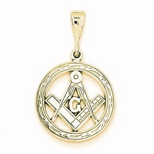 Polished Flat-Backed Small Masonic Charm