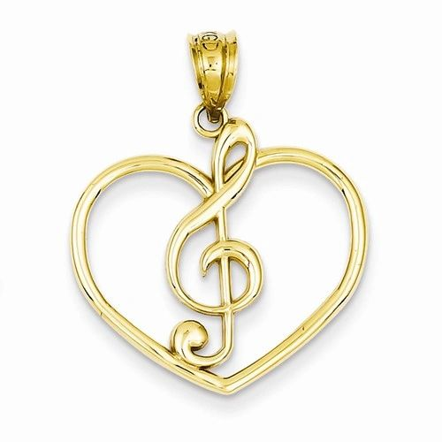 Treble Clef In Heart Charm (JC-1107)