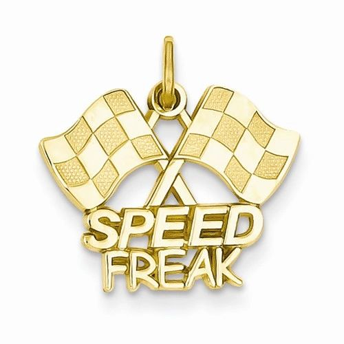 Racing Flags with Speed Freak Charm