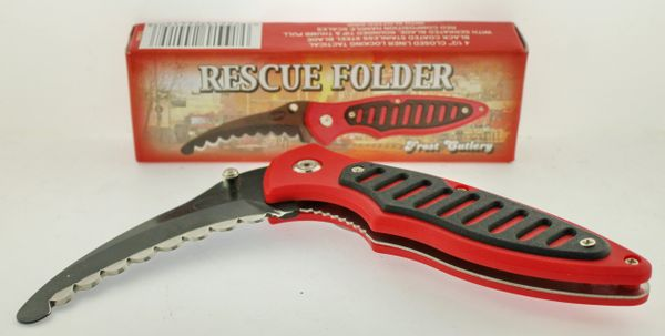 Frost Cutlery Rescue Folder 16-698R Knife
