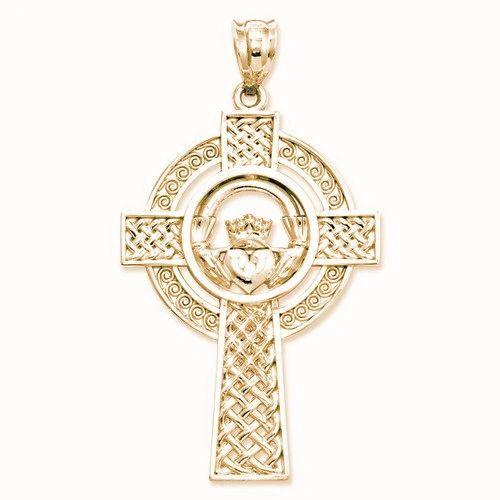 Celtic Claddagh Cross Pendant (JC-1105)