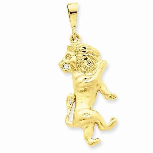 Diamond Cut Leo Zodiac Charm