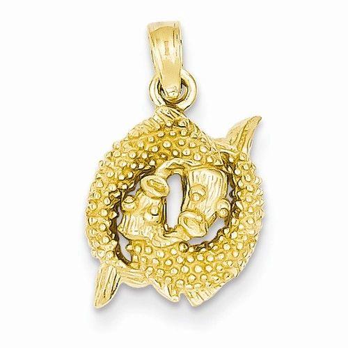 3-D Pisces Zodiac Pendant