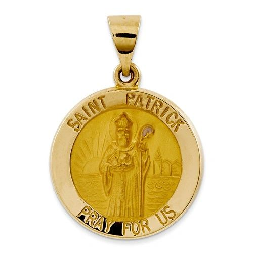 Polished And Satin St. Patrick Medal Pendant (JC-1119)