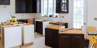 Installation cabinets according to your floor plan