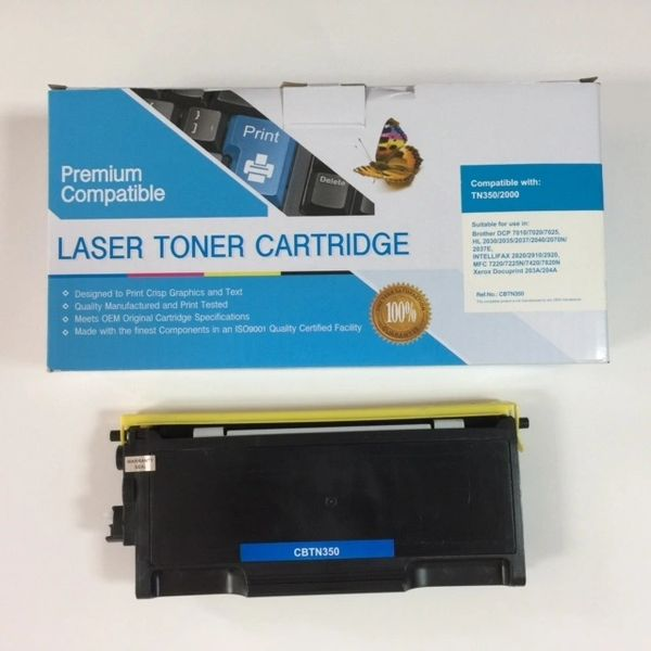 COMPATIBLE BROTHER TN350 BLACK TONER CARTRIDGE