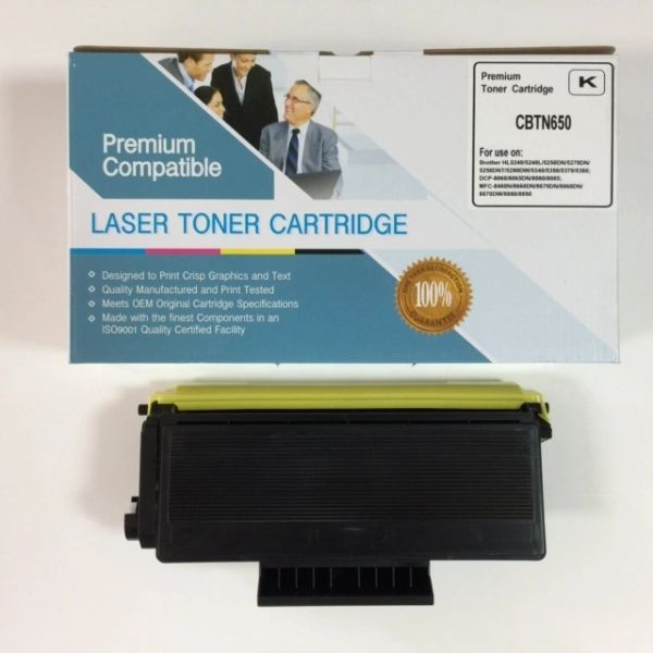 COMPATIBLE BROTHER TN650 BLACK TONER CARTRIDGE