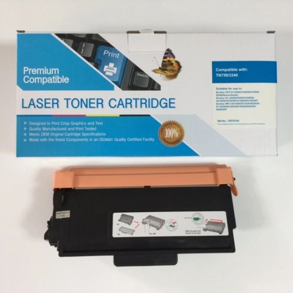 COMPATIBLE BROTHER TN750 BLACK TONER CARTRIDGE