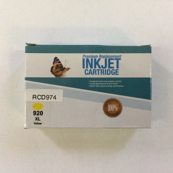 Remanufactured HP 920XL (CD974AN) Yellow Inkjet Cartridge