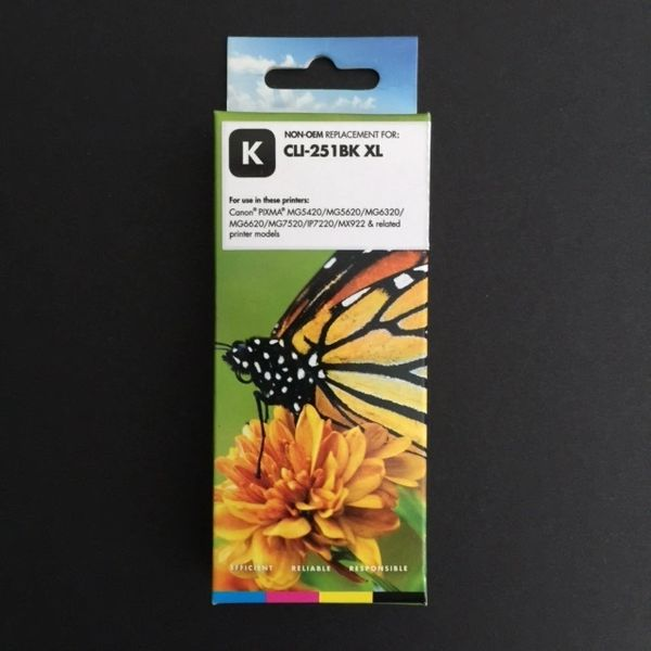 Compatible Canon CLI-251XL (6448B001) Black Inkjet Cartridge