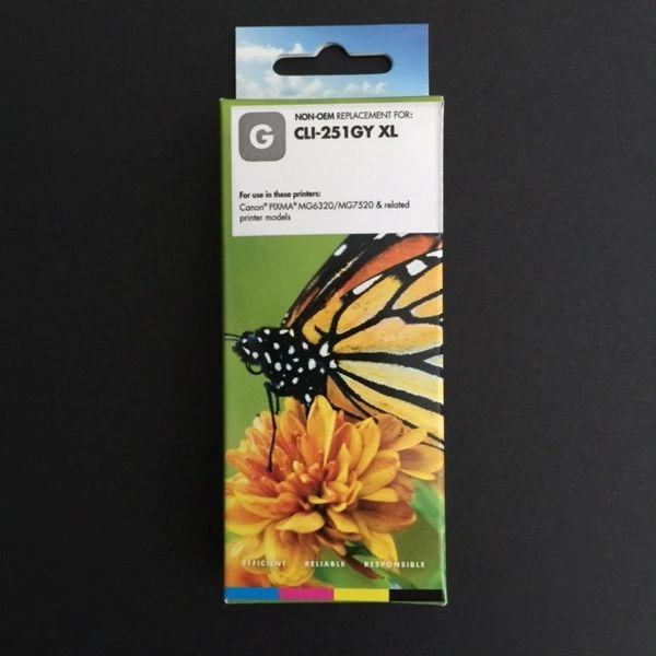 Compatible Canon CLI-251XL (6452B001) Gray Inkjet Cartridge