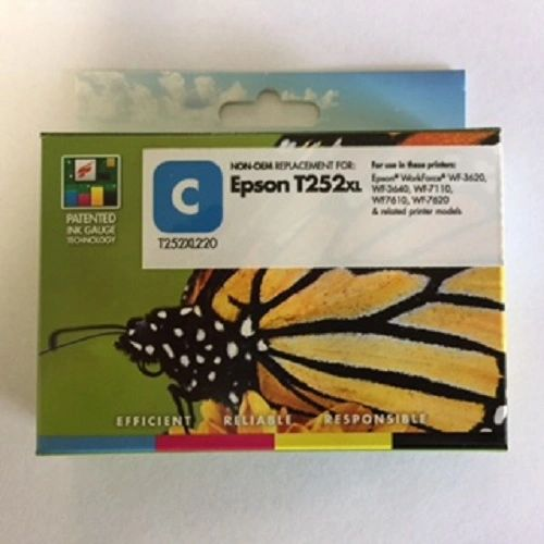 Remanufactured Epson T252XL220 Inkjet Cartridge Cyan