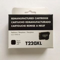 Remanufactured Epson T220XL120 Inkjet Cartridge Black
