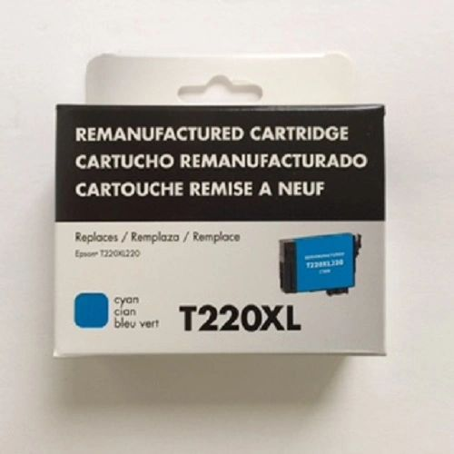 Remanufactured Epson T220XL220 Inkjet Cartridge Cyan