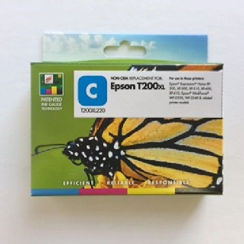 Remanufactured Epson T200XL220 Inkjet Cartridge Cyan