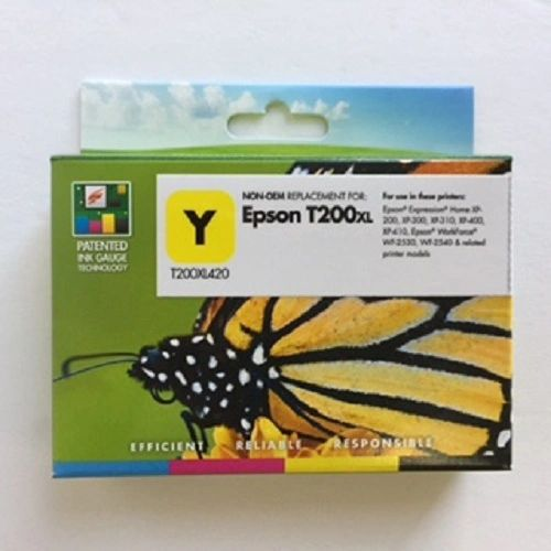 Remanufactured Epson T200XL420 Inkjet Cartridge Yellow