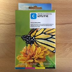 Compatible Brother LC75C Cyan Inkjet Cartridge