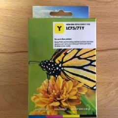 Compatible Brother LC75Y Yellow Inkjet Cartridge