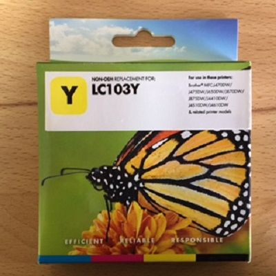 Compatible Brother LC103Y Yellow Inkjet Cartridge