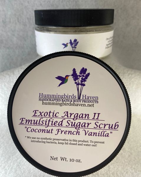 Exotic Argan II - Emulsified Sugar Scrub-Coconut French Vanilla