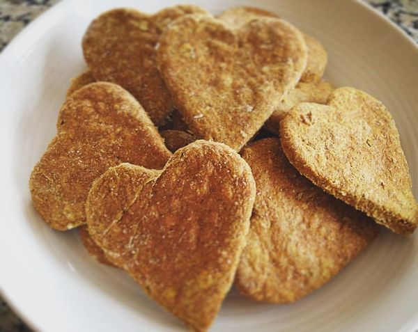 Almond & Coconut Love Heart Cookies
