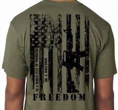 AMERICA FREEDOM FLAG T-SHIRT