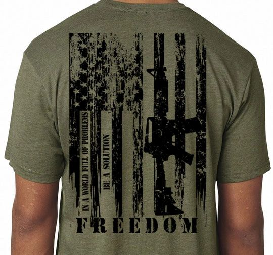 AMERICA FREEDOM FLAG T-SHIRT