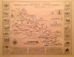 Hanover County Map by Robert B. Lancaster