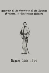 Souvenir of the Exercises of the Hanover Monument to Hanover Soldiers: August 27th, 1914