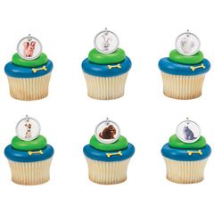 Secret Life of Pets Cupcake Rings 12 Piece