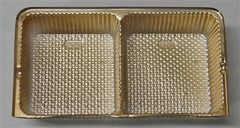 Oreo Cookie Candy Tray Insert 2 Cavity Gold