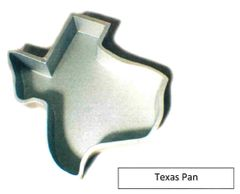 Texas Shaped State Cake Pan Cast Aluminum