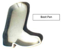 Boot Shaped Cake Pan Cast Aluminum
