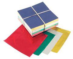 Assorted Color Set Candy Foil Squares 500 piece 6x6