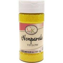 Yellow Non-Pareils Sprinkles 3.8 oz