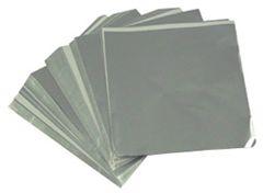 Silver 5x7 Candy Foil Squares 125 piece