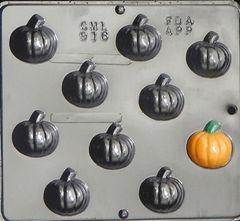 Pumpkin 9 Cavity Chocolate Craft Candy Mold