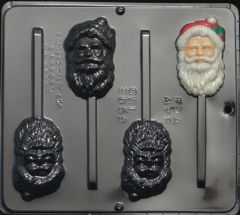 Santa Face Traditional 4 Cavity Lollipop Chocolate Craft Candy Mold