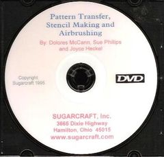 Pattern Transfer, Stenciling and Airbrushing on Cakes Video DVD/VHS