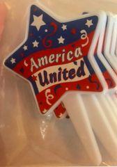 Patriotic America United Cupcake Picks 12 Piece