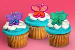 Butterfly Cupcake Rings Pastel 12 piece