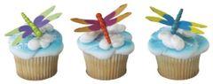 Dragonflies 3D Cupcake Pick 3 Piece