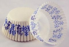 Blue Flower Standard Muffin Baking Cups 50 piece