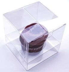 Clear Cupcake Candy Box 4x4x4 inch