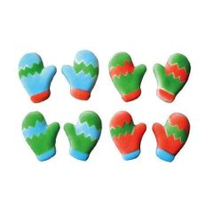 Mittens Edible Sugar Decorations 5 Piece