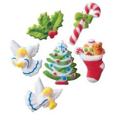 Christmas Deluxe Edible Sugar Decorations 10 Piece