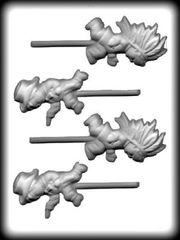 Cowboys and Indians 4 Cavity Hard Candy Craft Mold