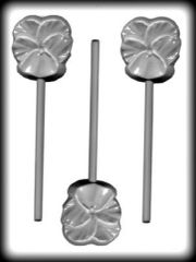 Pansy Lollipop 3 cavity Hard Candy Craft Mold