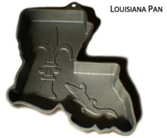 Louisiana Shaped State Cake Pan Cast Aluminum